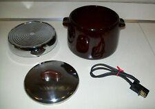 Vintage 1970/'s West Bend Bean Pot  Patio Server w Heating Element Heat-Rite