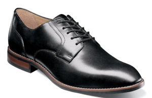 Nunn Bush Fifth Ave Flex Plain Toe Oxford Shoes Black 84805