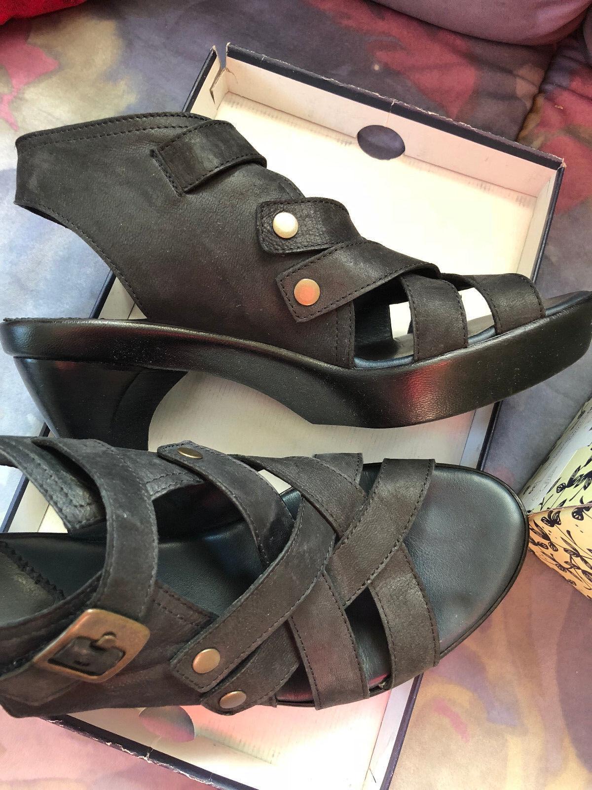 verschiedene Größen Sandale THINK Gr.39 Capra Grasso schwarz