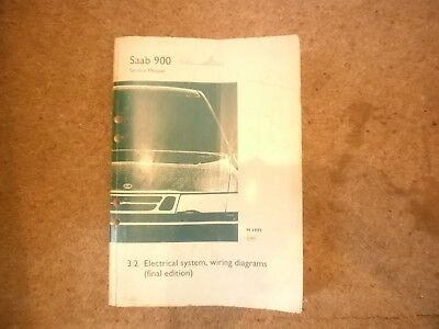 Saab 900 Electrical System Wiring Diagrams Manual | eBay