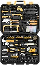DEKOPRO 198 Piece Home Repair Tool Kit, Wrench Plastic Toolbox with General Hous