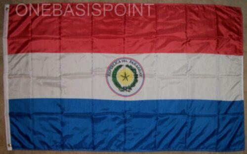 3/'x5/' Paraguay Flag Banner Outdoor Huge New Bandera de National Coat of Arms 3x5