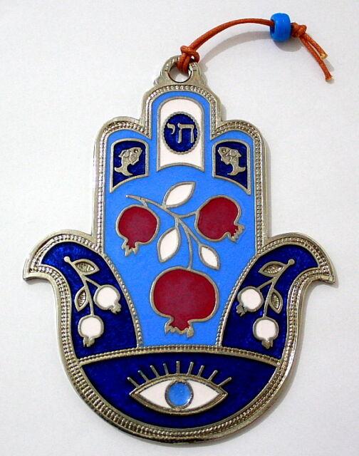 925 Silver Plated Evil Eye Hamsa Jewish Kabbalah Israel Lucky