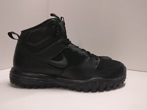 Nike Dual Fusion Hills Mid in Pelle UK 8 Nero Antracite 655784004