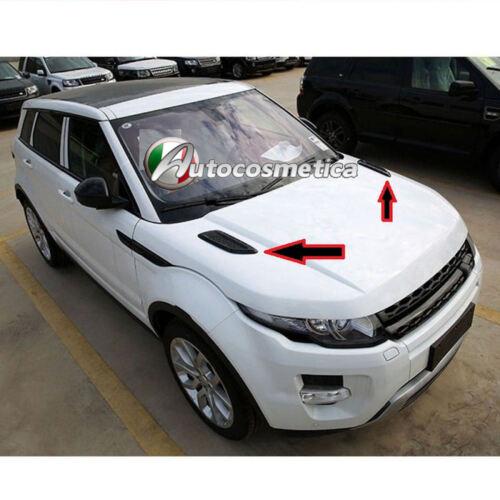 2 Cover Prese D/'aria Cofano Anteriore Range Rover Evoque in abs Nero lucido