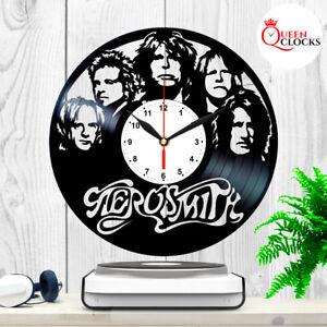 Aerosmith-Rock-Band-Steven-Tyler-Vintage-LP-Vinyl-Record-Wall-Clock-Fans-Gift