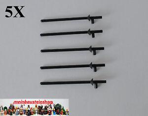 5X-Lego-3849-Minifiguren-Lanze-Fahnenstange-Lance-Schwarz-Black