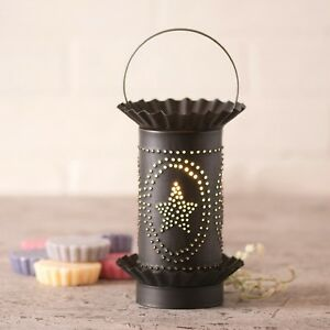Wax Tart Warmer Star Oval Design Electric Kettle Black Irvins Country