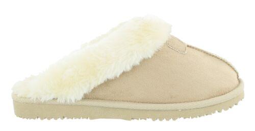 Women/'s Ella Jill Luxury Faux Fur Lined Memory Foam Mule Slippers