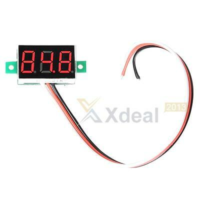 XD#3 Mini Digital Voltmeter DC0-100V LED Panel Voltage Meter with Three Wires