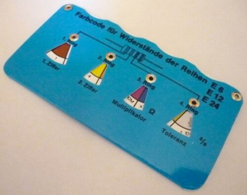 WIDERSTANDSUHR VITROHMETER VITROMETER blau für Widerstand Reihen E192 Farbcode