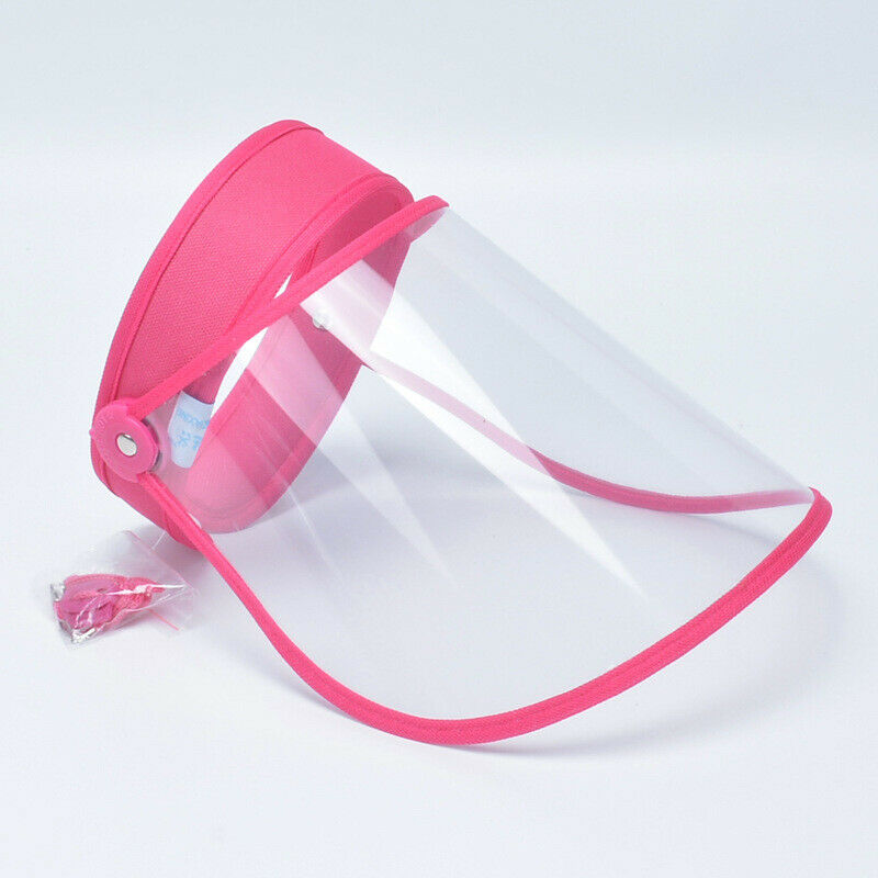 Adjustable Full Face Shield Cover Washable Clear Guard Visor Hat Unisex