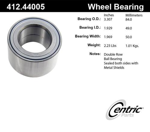 Wheel Bearing-C-TEK Bearings Rear Centric 412.44005E