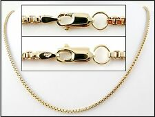 "Beautiful Heavy 9ct Gold Box Chain (30"" - 28.1g) Hallmarked Necklace 9k 375"