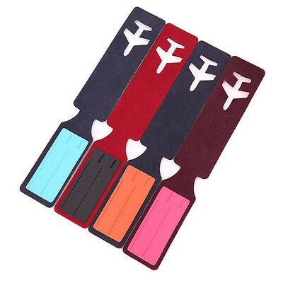 Hot sale Leather Travel Bag Trip Luggage Suitcase Name Holder Label ID Tags