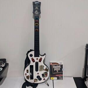 Nintendo Wii Guitar Hero Gibson Les Paul White Controller + Guitar Hero 5