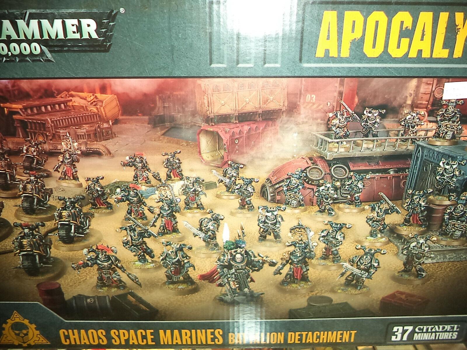 Chaos Space  Marines Bataillon détacheHommest WARHAMMER 40k 40,000 Games Workshop NEUF  abordable