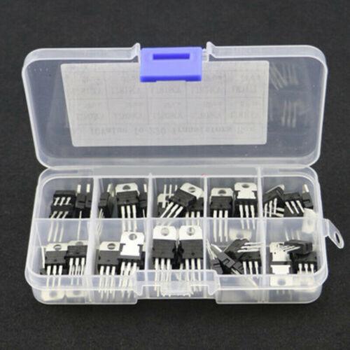 10 Wert Spannungsregler Transistor L7812 L7815 L7818 Verschiedene Zubehör 50