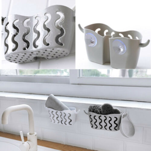 Suction Cup Basket Holder Shower Caddy Sink Soap Rack Wall Hanging Storage NEW