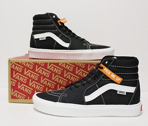 glad goedkoop te koop New York Details about Vans SK8 Hi Lite Black True White Men's Size 8