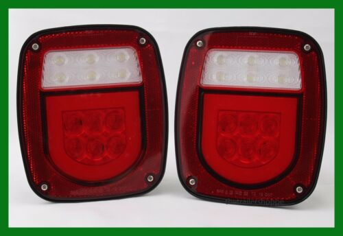 GLO Universal Stud Mount LED Combination Stop Turn Tail Light Back up Jeep Truck