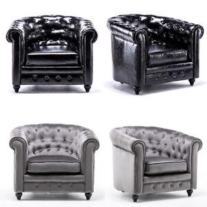BLACK LEATHER/VELVET FABRIC TUB ARMCHAIR BUCKET SEAT ...