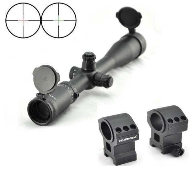 Visionking 4-16x44 Mil Dot Mira para rifle caza táctica de anillos de montaje .308 3006