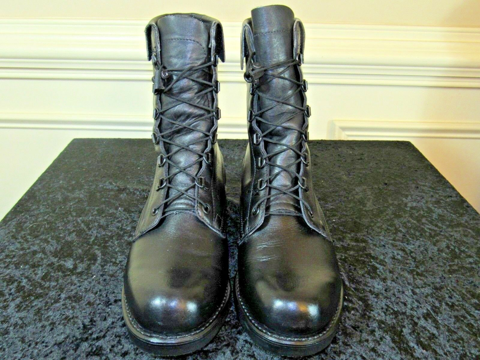 ADDISON Boot Co. Black Leather Combat Men's Casual Boots SIZE 8E