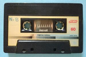MC-Musicassetta-MAXELL-XLI-S-60-vintage-compact-cassette-audio-tape-USATA-no-tdk