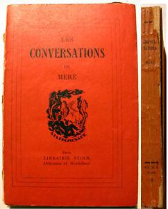 MORALE-CHEVALIER-DE-MERE-CONVERSATIONS-STOCK-1929