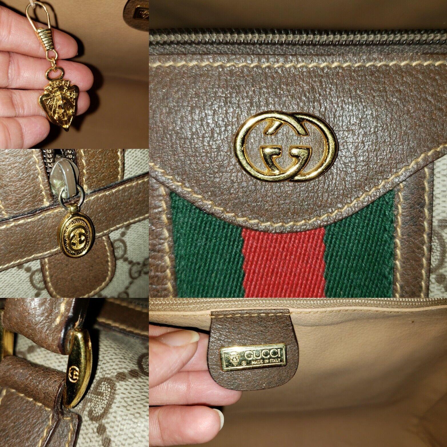 Vintage Gucci GG Monogram Boston Brown Speedy Bag… - image 7