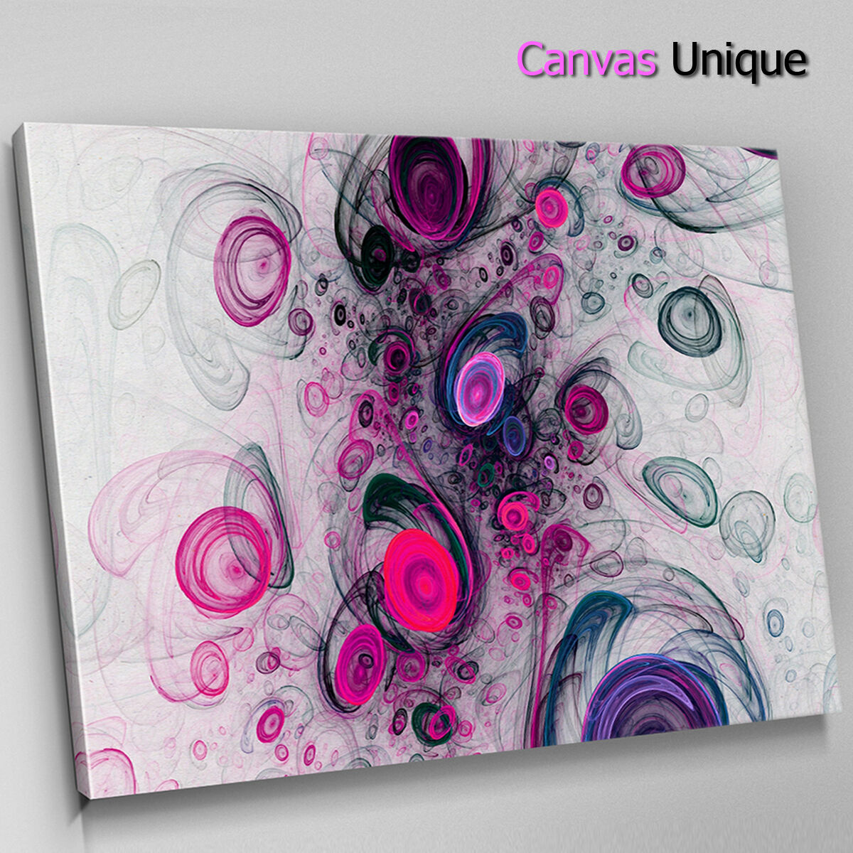 AB1334 Fuchsia modern retro Abstract Wall Art Picture Large Canvas Print