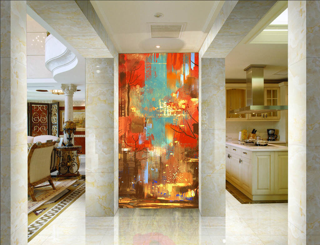 3D Oil Painting Street Wall Paper Wall Print Decal Wall Deco Wall Indoor Murals