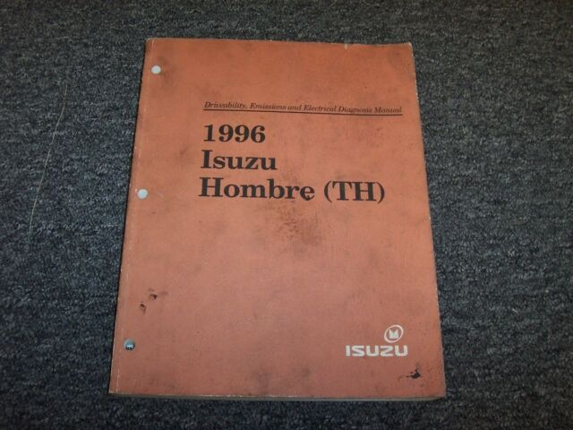 1996 Isuzu Hombre Driveability  U0026 Emissions Electrical Wiring Diagram Manual S Xs