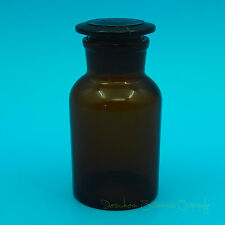 250ml Amber Glass Reagent Bottlewide Mouthwith Ground Stoppernone Graduation