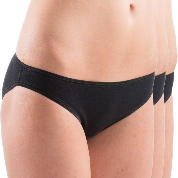 HERMKO 17032 3er Pack Damen Mini-Slip softweich Dank Modal aus Baumwolle/Modal