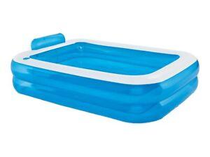Crivit Rectangular Paddling Pool Large 202x151cm Size Garden Inflatable Fun