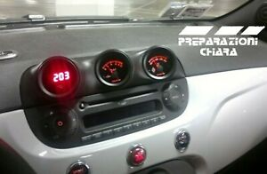 Abarth 500 voltmetro+ pressione olio + temperatura olio +porta manometri