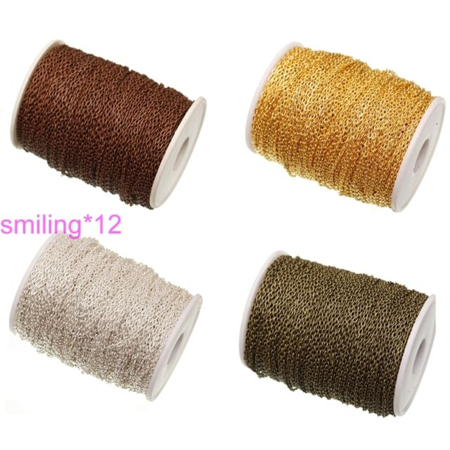 Wholesale 5m/100m Chain Cord Jewelry Making