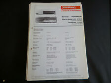 "Original Service Manual  Nordmende SPECTRA PHONIC 4005 TANNHÃ""USER"