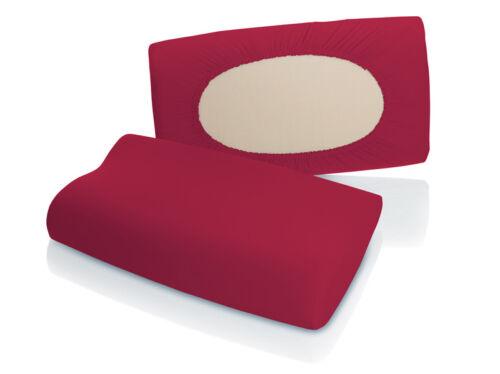 Schlafgut fleXibel Multifunktionaler Kissenbezug Jersey Elasthan Kirsche Rot