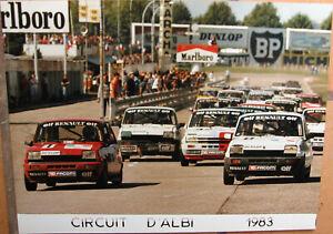 144 . 1 X Photo . Circuit D'albi . Renault . 1983 . 18 X 24 Cm . Avec Des MéThodes Traditionnelles