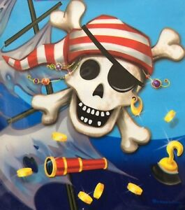 Pack of 8 Pirate Children/'s Party LOOT BAGS GIFT carry handle 99p skull treasure
