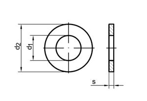 M2,5 10x Stahl Unterlegscheibe DIN 125 A
