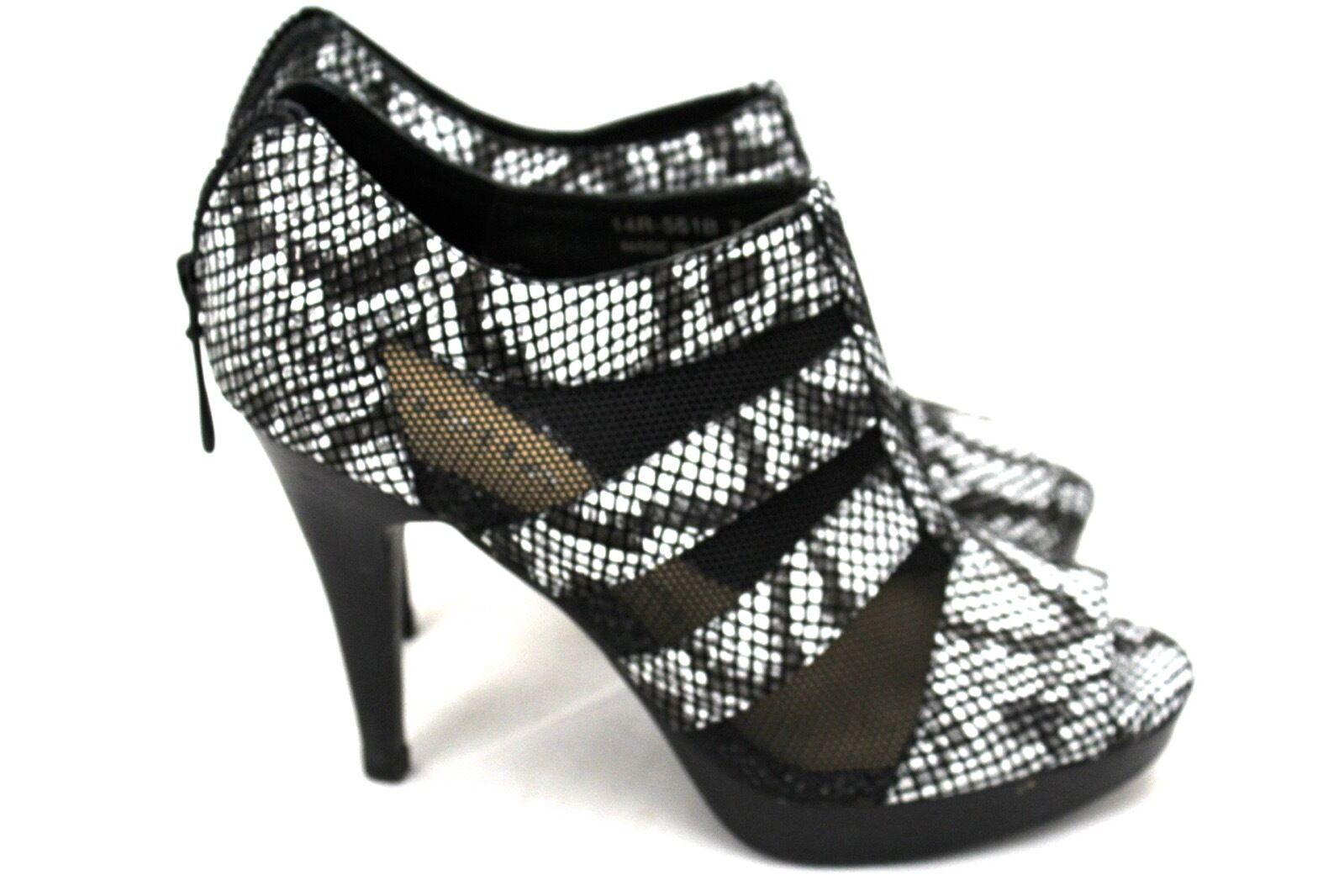 Nanette Lepore rester la nuit Talon Aiguille Mesh Chaussures Fermeture Éclair Bout Ouvert 7 M fabricants Standard prix de détail  378