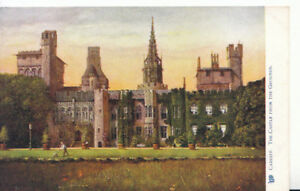 Wales-Postcard-The-Castle-from-The-Grounds-Cardiff-Glamorgan-Ref-2750A