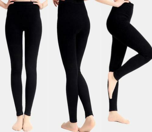 Womens 97/% Cashmere Wool Leggings Snug Seamless Pants Thick Winter Warm 3Colors