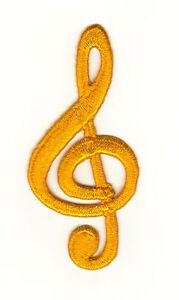 aa03 notenschlüssel noten musik aufnäher bügelbild patch applikation 4 x 8,7 cm | ebay