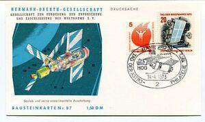 1973 Hermann Oberth Gesellschaft Weltraums Hamburg Drucksache Bausteinkarte Nr87 AgréAble Au Palais