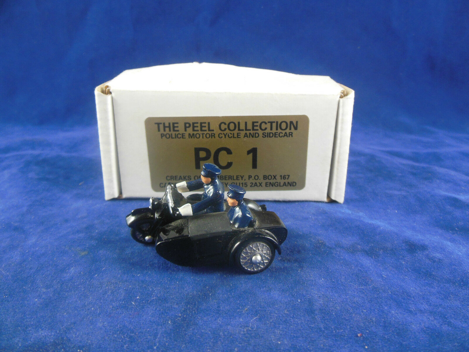 Very Rare Creaks of Camberley Peel Collection Collection Collection PC1 Police Motor Cycle & Sidecar e15d20